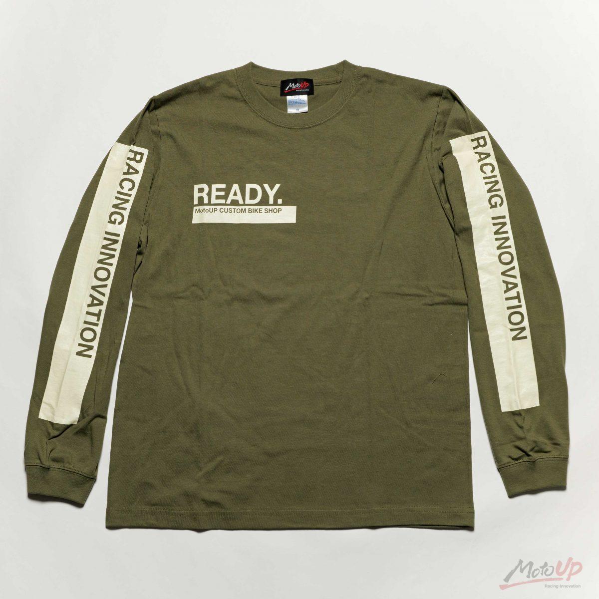 「READY」L/S Print T-shirt